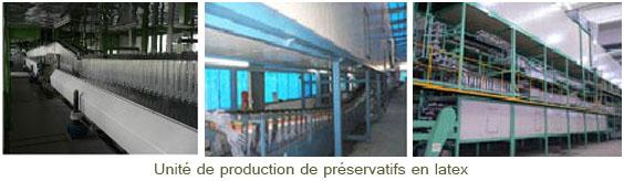 Unité de production de préservatifs en LATEX