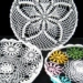 Crochet linen basket of homeware decoration for gift accessories tableware