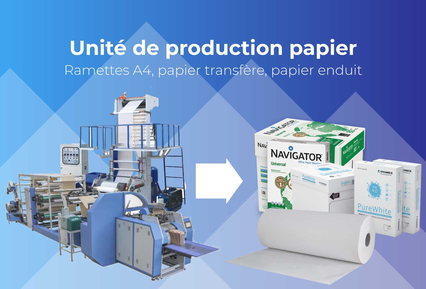 Unité de production de papier