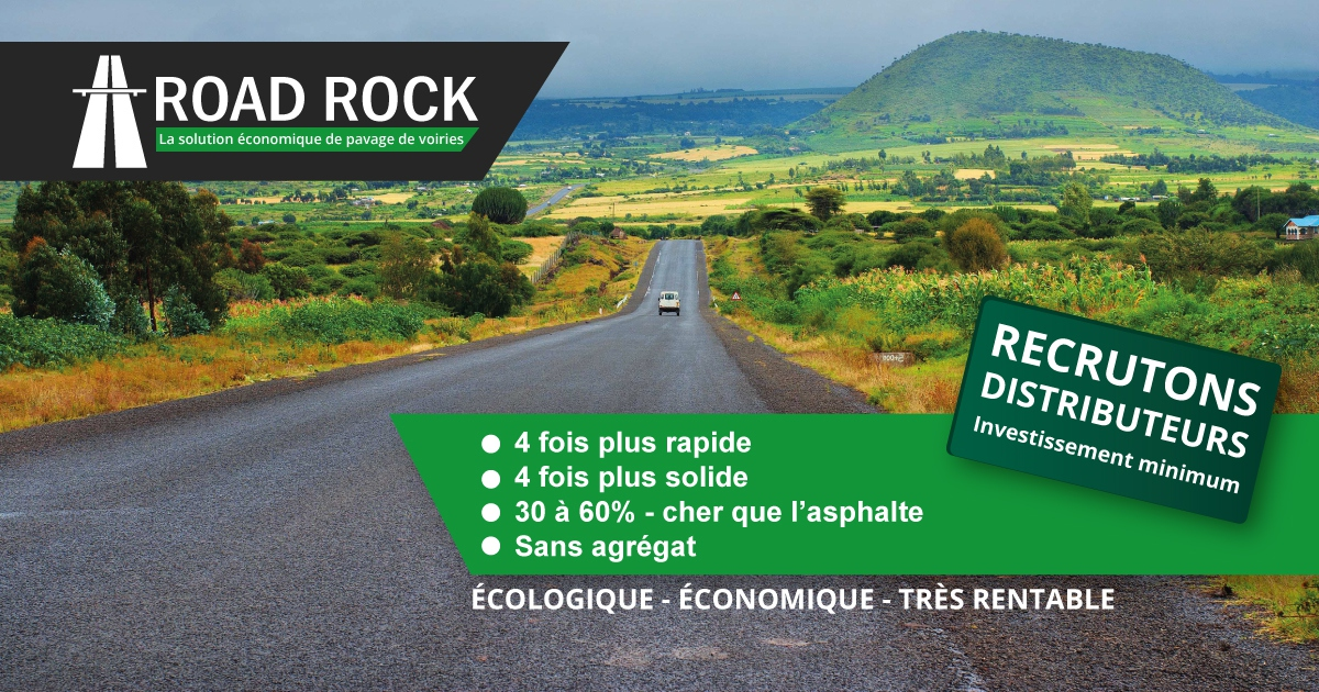 ROAD ROCK, solution économique & durable de pavage de routes